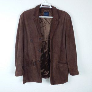 Brooks Brothers Leather Suede Coat (FLAWS)